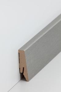 Designsockelleiste - Edelstahleffekt