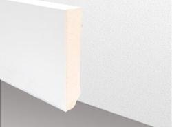 ECO Cube - Echtholzsockelleiste, weiß