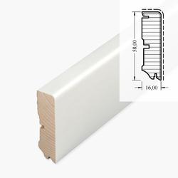 Cube - Echtholzsockelleiste, weiß